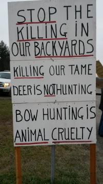 Protestors Sign